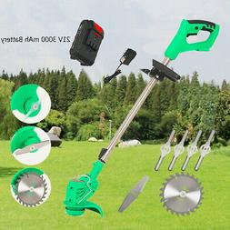 21V 3000mAh Electric Grass Trimmer Edger Lawn Mower Weed Pru