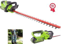 24-Inch 40 Volt Cordless Battery Hedge Trimmer Cutter Grass