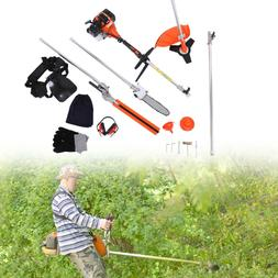 5-in-1 52 cc Petrol Hedge Trimmer Set Chainsaw Brush Grass C