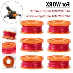 6× Grass Trimmer Spool Replacement Auto Feed Spool For Worx