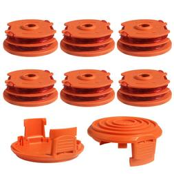 6 Pack WORX WA0007 Dual Grass Trimmer Spool Line For WG105/6