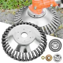 """8"""" Steel Wire Wheel Brush Grass Trimmer Head Weed Cleaning G"""