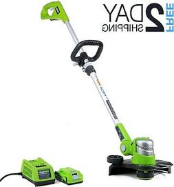 Battery Powered Weed Eater Wacker Lawn Cordless String Grass