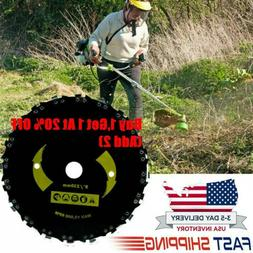 """Chain Saw Tooth Brush-Cutter Grass Blade Heavy Duty 9""""For Ga"""