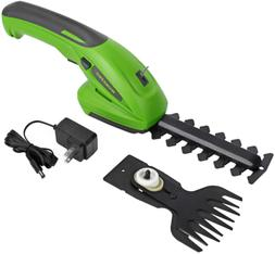Cordless Grass Handheld Hedge Trimmer 2-In-1 Rechargeable In