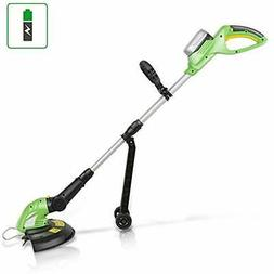 SereneLife Cordless Grass Trimmer Edger, Electric Garden Lan