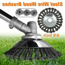 """Durable 8"""" Steel Wire Wheel Brush Grass Trimmer Head Weed Cl"""
