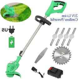 Electric Grass Trimmer Edger Lawn Mower 21V Cordless Weed Br