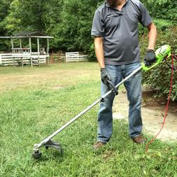 Greenworks Electric String Trimmer Weed Eater Grass Line Cut