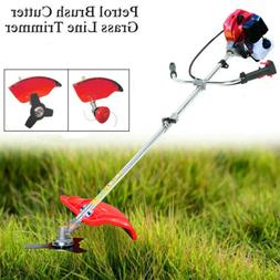 Gas Brush Cutter Trimmer Weed String Powered Lawn Grass w/ S
