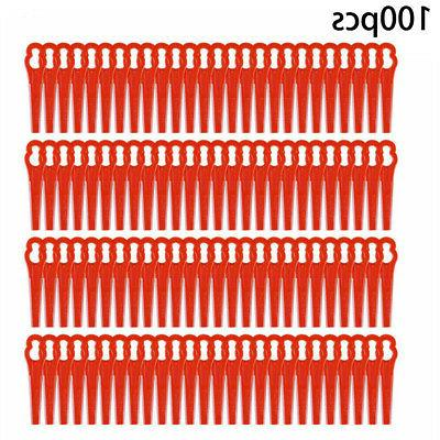 100Pcs Plastic Blades Cutter For String Trimmer Replacement