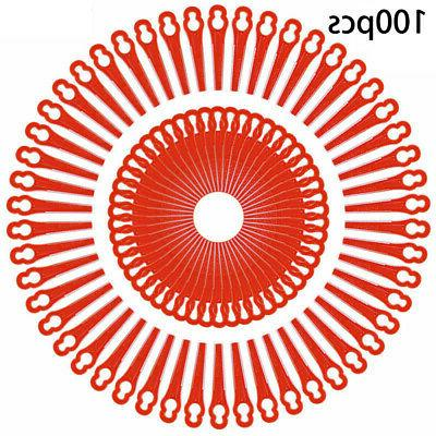 100pcs plastic blades cutter for string grass