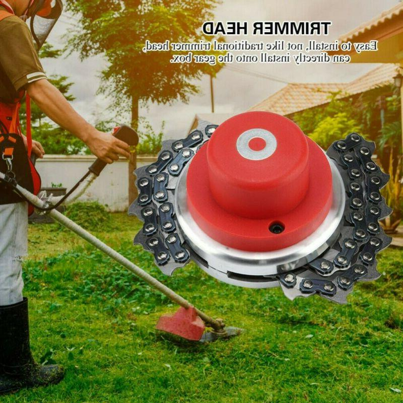 65Mn Trimmer Head + Coil Chain Brush Cutter Garden Lawn Mower