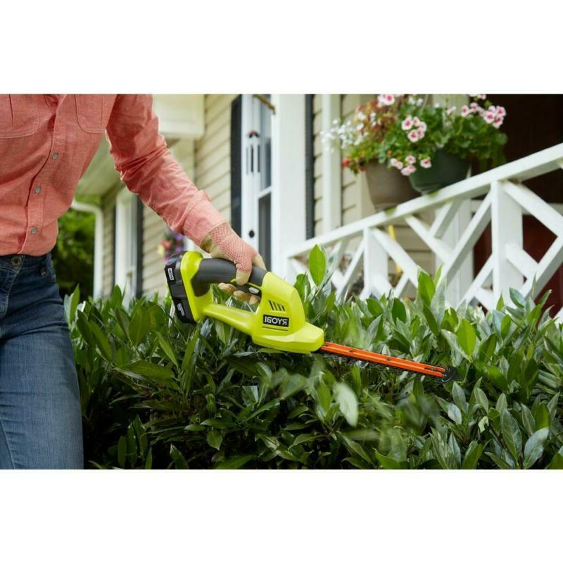 Cordless Grass Shear Shrubber Hedge Trimmer Light w/ Charger