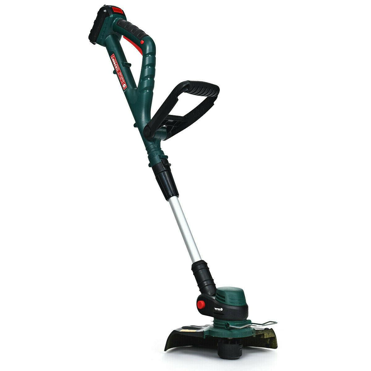 cordless string grass trimmer and edger electric