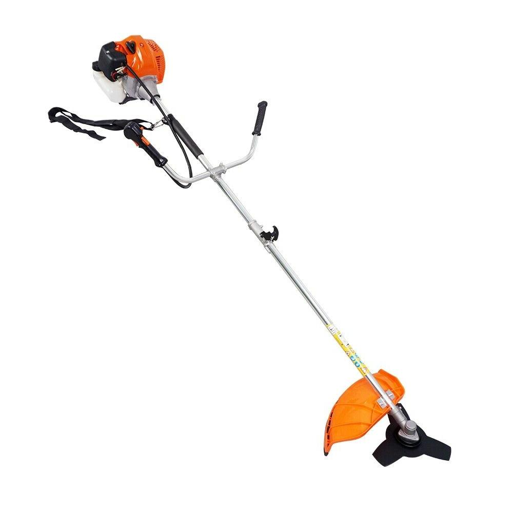 gas powered brush cutter string trimmer grass