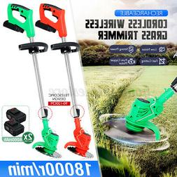 Rechargeable Cordless Electric Grass Trimmer Strimmer Cutter