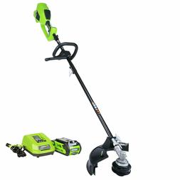 String Trimmer Edger 40 Volt Battery Easy Feed Spool Grass C