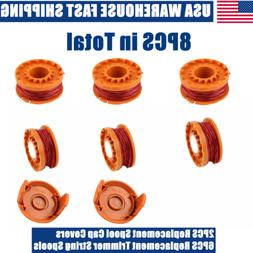 6Pcs Replacement Grass Trimmer Spools Line Edger String for