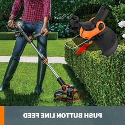 WG163.9 20V Cordless Grass Trimmer/Edger with Command Feed,